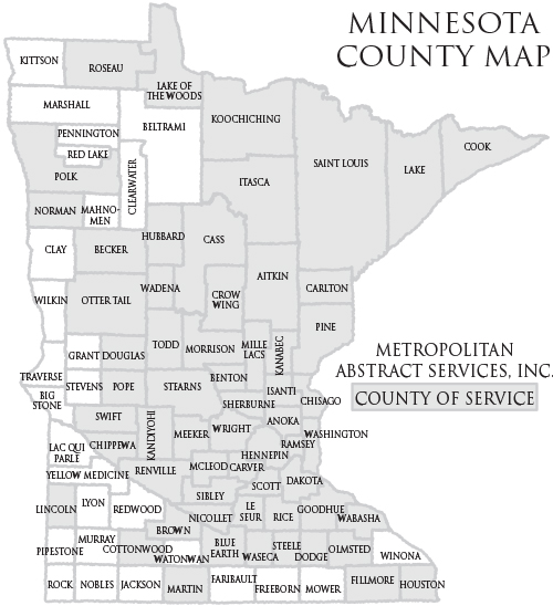 Title Search By Minnesota County Abstract Services County Search